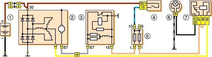 Схема соединений генератора Г-